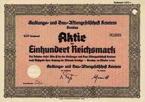 Siedlungs- u. Bau-AG Krietern