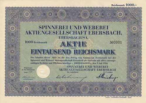 Spinnerei und Weberei Ebersbach