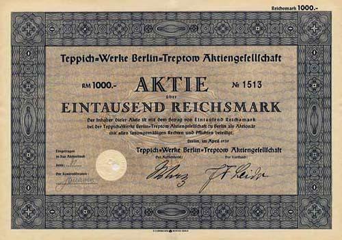 Teppich-Werke Berlin-Treptow