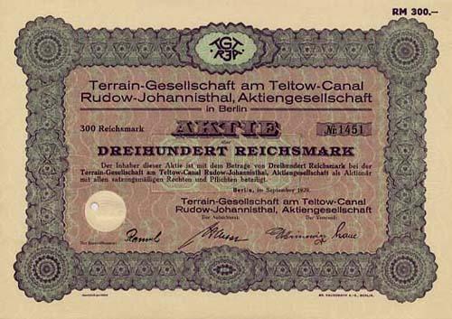 Terrain-Gesellschaft am Teltow-Canal Rudow-Johannisthal