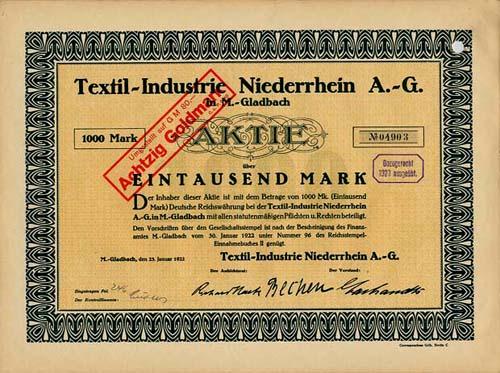 Textil-Industrie Niederrhein