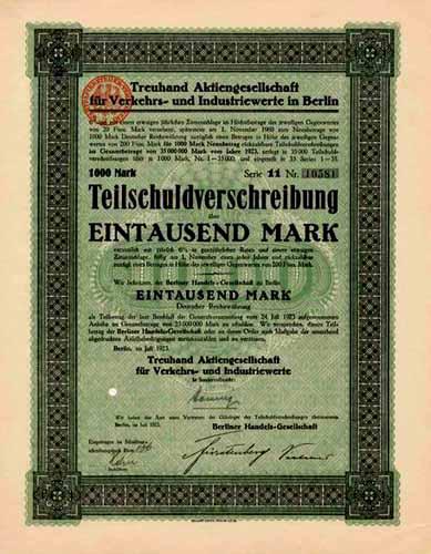 Treuhand AG für Verkehrs- und Industriewerte