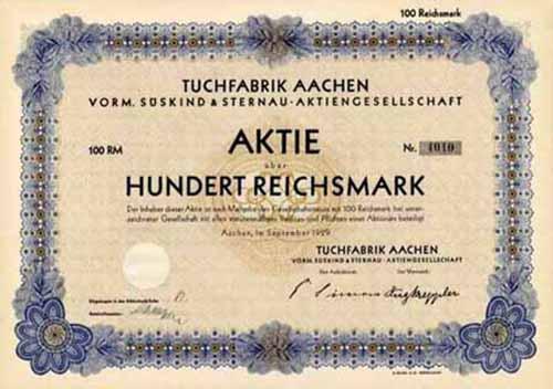 Tuchfabrik Aachen vorm. Süskind & Sternau