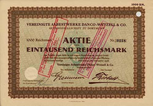 Vereinigte Asbestwerke Danco-Wetzell & Co.