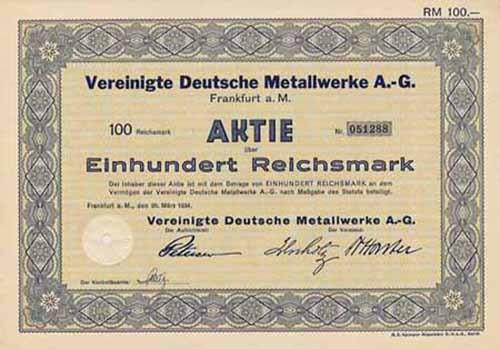 Vereinigte Deutsche Metallwerke