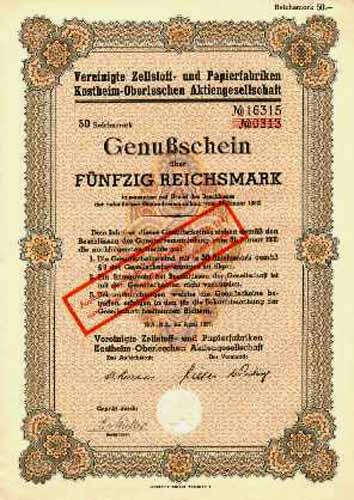 Vereinigte Zellstoff- und Papierfabriken Kostheim-Oberleschen