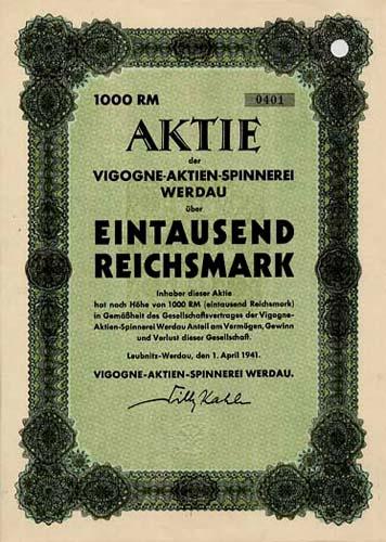 Vigogne-Aktien-Spinnerei Werdau