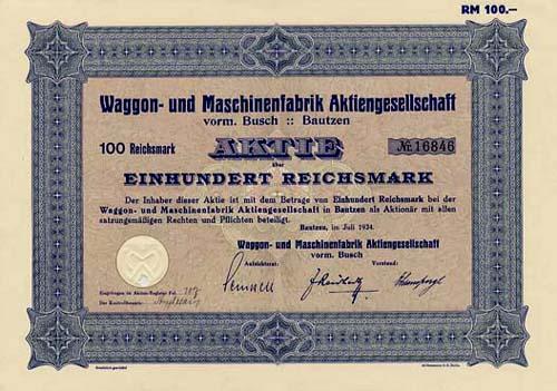 Waggon- und Maschinenfabrik vorm. Busch
