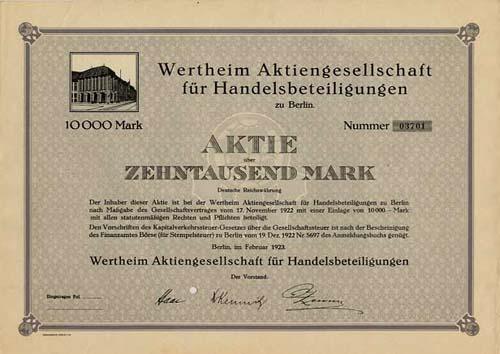 Wertheim AG für Handelsbeteiligungen