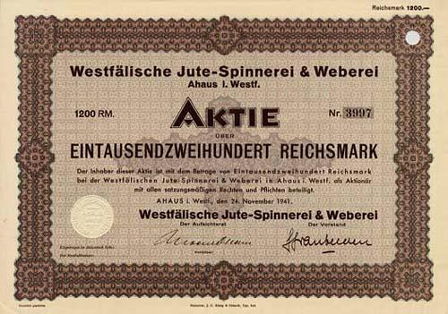 Westfälische Jute-Spinnerei & Weberei