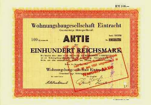Wohnungsbaugesellschaft Eintracht Gemeinnützige AG