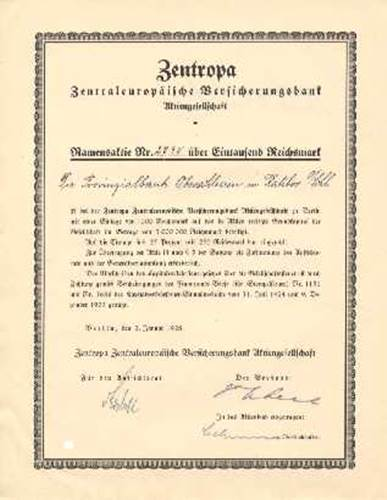 Zentropa Zentraleuropäische Versicherungsbank