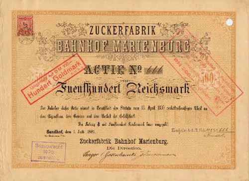 Zuckerfabrik Bahnhof Marienburg
