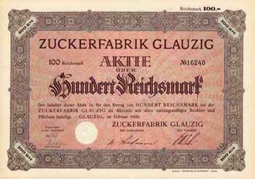 Zuckerfabrik Glauzig