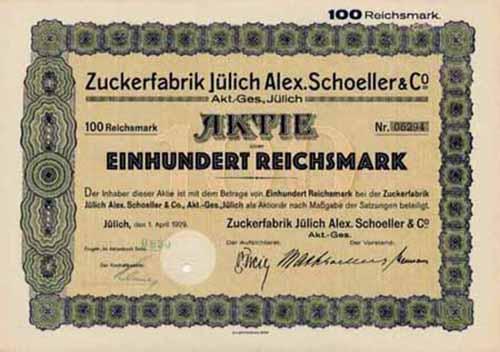 Zuckerfabrik Jülich Alex. Schoeller & Co.