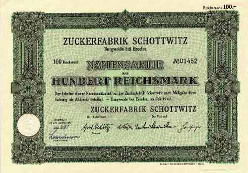 Zuckerfabrik Schottwitz