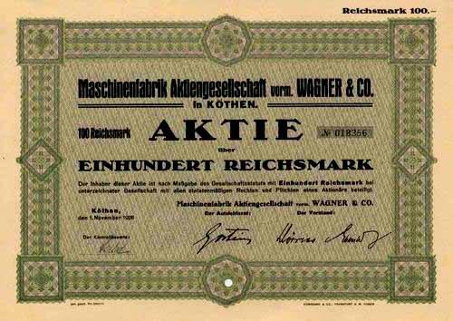 Maschinenfabrik vorm. Wagner & Co.