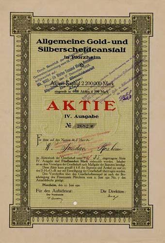 Allgemeine Gold- und Silberscheideanstalt