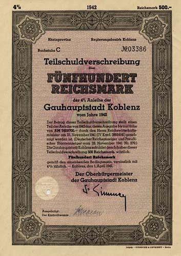 Gauhauptstadt Koblenz