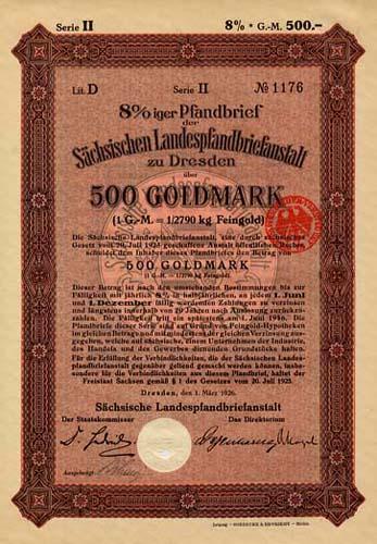 Sächsische Landespfandbriefanstalt zu Dresden