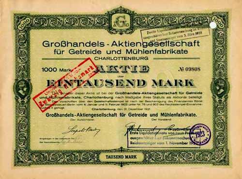 Großhandels-AG für Getreide und Mühlenfabrikate