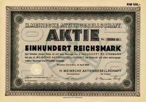 H. Meinecke
