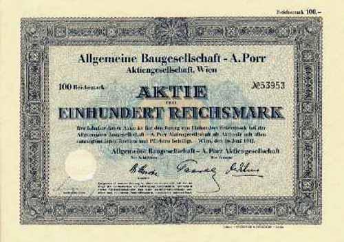 Allgemeine Baugesellschaft - A. Porr