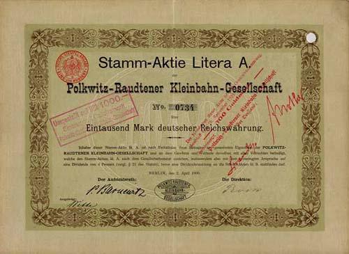 Polkwitz-Raudtener Kleinbahn-Gesellschaft