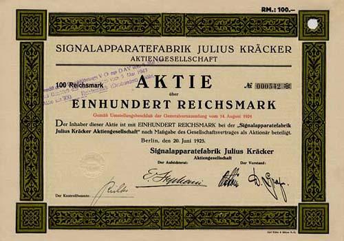 Signalapparatefabrik Julius Kräcker