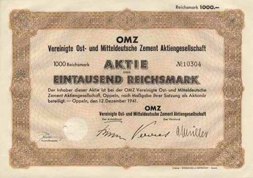 OMZ Vereinigte Ost- und Mitteldeutsche Zement