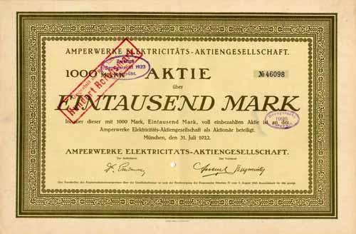 Amperwerke Electricitäts-AG