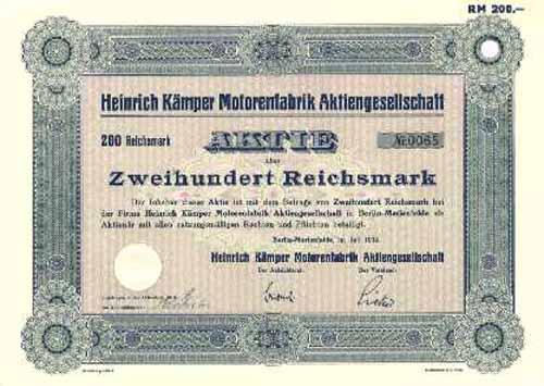 Heinrich Kämper Motorenfabrik