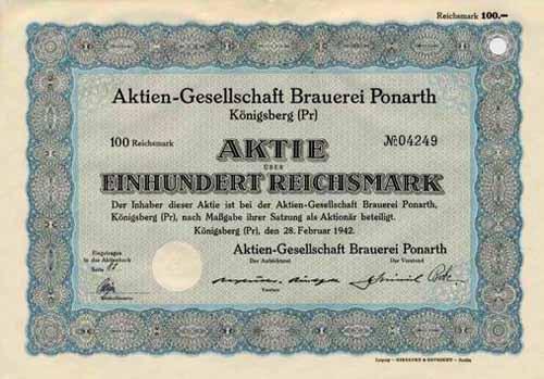 AG Brauerei Ponarth