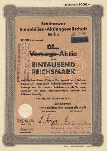 Schönower Immobilien-AG
