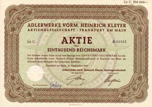 Adlerwerke vorm. Heinrich Kleyer