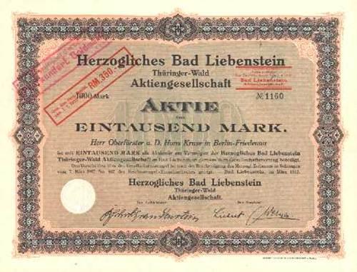 Herzogliches Bad Liebenstein Thüringer-Wald