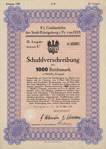 Stadt Königsberg i. Pr.