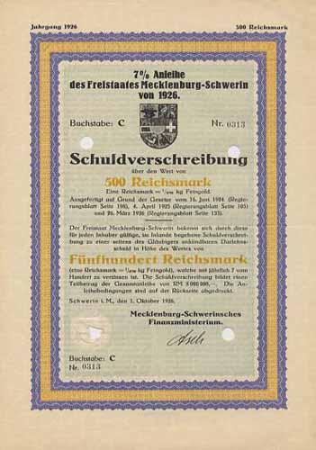 Freistaat Mecklenburg-Schwerin