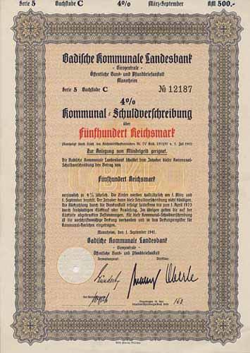 Badische Kommunale Landesbank -Girozentrale- Öffentliche Bank- und Pfandbriefanstalt