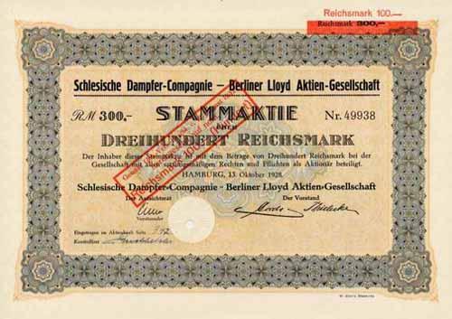 Schlesische Dampfer-Compagnie - Berliner Lloyd