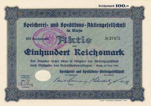 Speicherei- und Speditions-AG