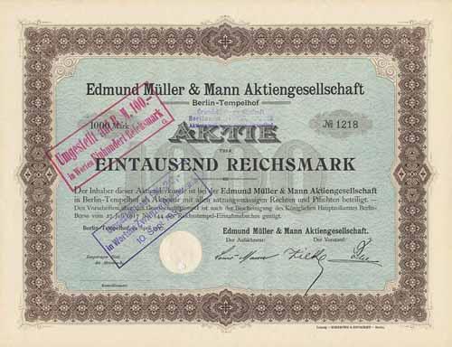 Edmund Müller & Mann