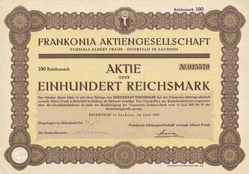 Frankonia vormals Albert Frank