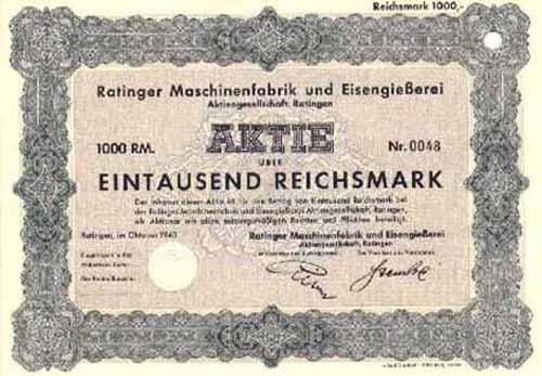 Ratinger Maschinenfabrik und Eisengießerei