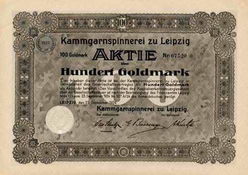 Kammgarnspinnerei zu Leipzig