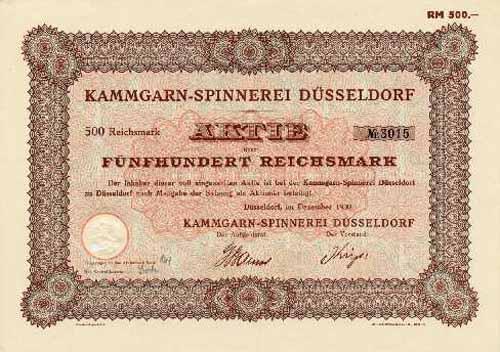 Kammgarn-Spinnerei Düsseldorf