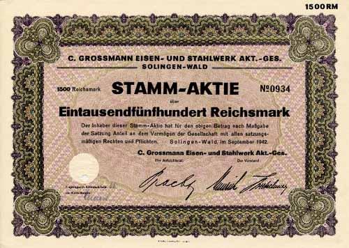 C. Grossmann Eisen- und Stahlwerk