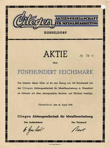Citogen AG für Metallbearbeitung