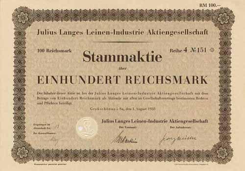 Julius Langes Leinen-Industrie
