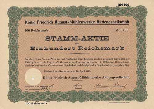 König Friedrich August-Mühlenwerke